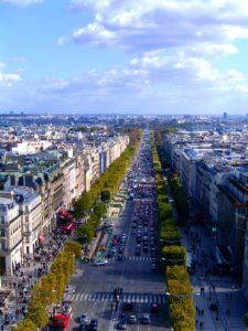 Campos Elíseos, vista desde el Arco del Triunfo París