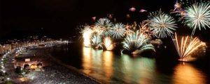 Playa Copacana Brasil Año Nuevo