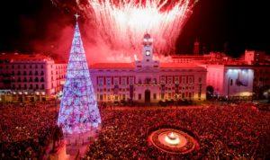 Plaza Mayor Madrid España Año nuevo