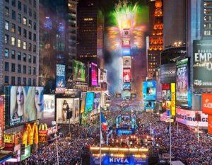 Times Square Nueva York Año Nuevo