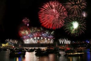 Bahía de Sydney Australia Año Nuevo